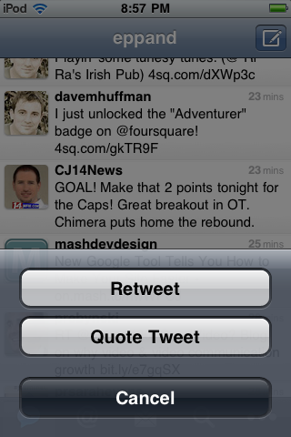 twitter for iphone app